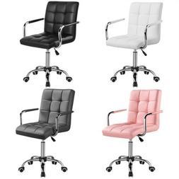 Modern PU Leather Office Chair Gas Lift Swivel Executive Com