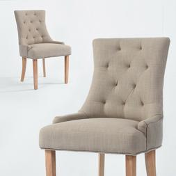 Modern Style Grey Fabric Tufted Dining Chair for Living Room