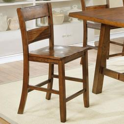Modern Style Set of 4pc Counter Height Chairs Armless Curved