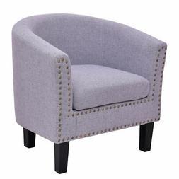 modern tub barrel club seat arm chair