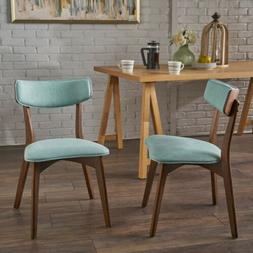 Molly Mid Century Modern Dining Chairs with Rubberwood Frame