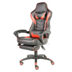 Music Office Gaming Chair with Footrest and Bluetooth Speake