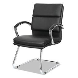Neratoli Series Slim Profile Guest Chair  Black Soft Leather
