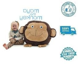 New Buddy Bean Bag Chair Brown Monkey Stuffed Soft Polyester