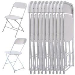 New Set of 10 Plastic Folding Chairs Wedding Party Event Cha