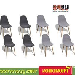 Dining Chairs Set of 4Beige Light gray/Dark gray Design Mode