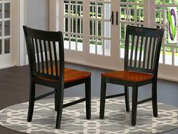 East West Furniture Nfc-Bch-W Norfolk Formal Dining Chair Wi