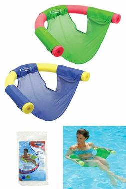 Noodle Sling Fabric Mesh Swimming Pool Floating Chair Seat D