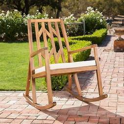Christopher Knight Home Nuna Outdoor Wood Rocking Chair w/ W