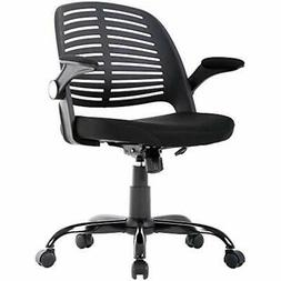 Office Chair Desk Computer With Lumbar Support Flip Up Arms