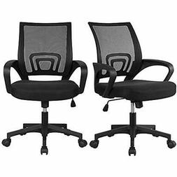 Office Chair Mid Back Swivel Lumbar Support Desk Chair, Heig