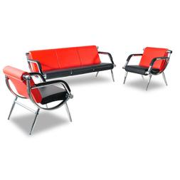 Office Chair Waiting Room Set Reception PU Leather Airport G