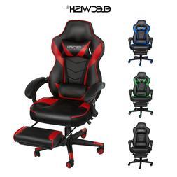 Video Racing Gaming Chair Ergonomic PU Leather Office Swivel