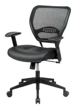 OFFICE STAR 5700E Desk Chair, Series Space Leather Black