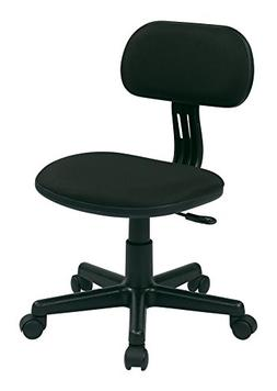 Osp Designs Task Chair In Black Fabric