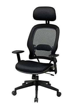 OSP55403 - Space Air Grid Series High-Back Chair w/Headrest