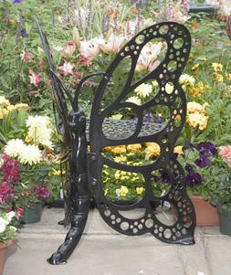 Outdoor Butterfly Chair Cast Aluminum Rust-free Metal Patio