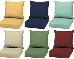 Outdoor Deep Seat Chair Patio Cushions Set Pad UV & Fade Res