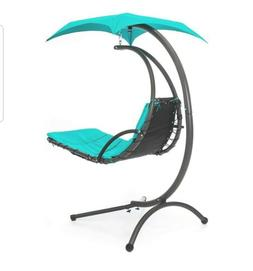 Best Choice Products Outdoor Hanging Curved Steel Chaise Lou