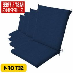 Outdoor Seat Chair Patio Cushions Blue Pad UV Resistant Porc