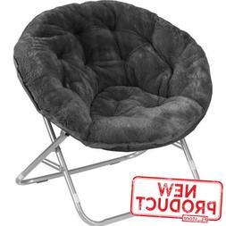 Oversized Moon Chair Seat Stool Saucer Soft Folding Home Liv