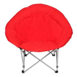 Oversized Saucer Moon Chair Padded Foldable Metal Cushioned