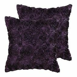 CaliTime Pack,2 Cushion Throw Pillow CasesRoses Floral 18X18