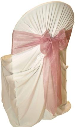 mds Pack of 100 Organza Chair Sashes Bow Sash for Wedding an