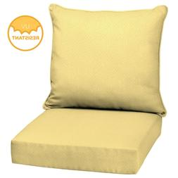 Outdoor Deep Seat Chair Patio Cushions Set Pad UV Resistant