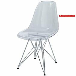 Modway Paris Mid-Century Modern Side Chair with Steel Metal