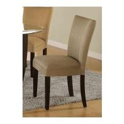 Parson Chair  in Taupe Microfiber - Coaster