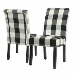 HomePop Parsons Dining Chair - Black Plaid