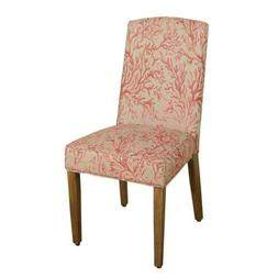 HomePop Parsons Modern Dining Chair, Single Pack, Pink Coral