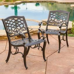 Covington Outdoor Cast Aluminum Dining Chair