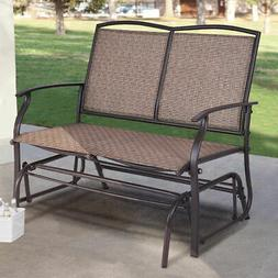 Patio Glider Rocking Bench Double 2 Person Chair Loveseat Ar
