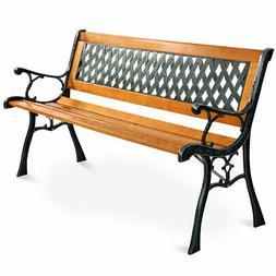 """Giantex 49 1/2"""" Patio Park Garden Bench Porch Path Chair Out"""