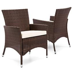 Best Choice Products Set of 2 Modern Contemporary Wicker Pat