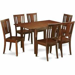 East West Furniture Picasso Mahogany Rubberwood Dinette Wood
