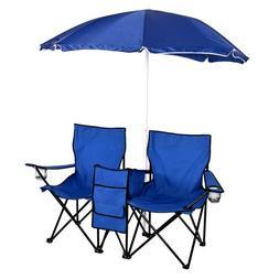 ShOpPeRcHoIcE Picnic Double Folding Chair w Umbrella Table C