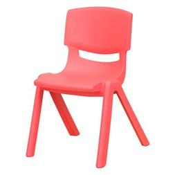 Plastic Classroom Chair, 12.25, Red