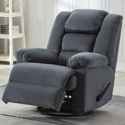 Swivel Glider Rocker Recliner Chair Ergonomic Armrest Overst