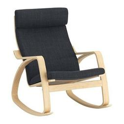 Ikea Poang Rocking Chair Birch Veneer, Hillared Anthracite N