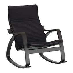 Ikea Poang Rocking Chair Black Brown , Knisa Black New