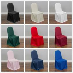 LinenTablecloth Polyester Banquet Chair Covers  for Events,