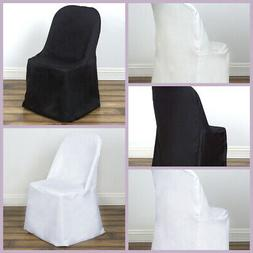 Polyester Folding Flat Banquet CHAIR COVERS Wedding Party Su