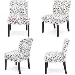 polyester upholstered accent chair with floral
