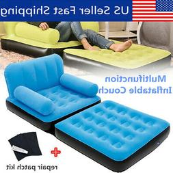 Portable Multi Max Inflatable Air Couch Double Bed Chair Sof