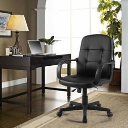Giantex PU Leather Ergonomic Gaming Chairs Modern Midback Ex