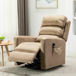 push back recliner glider rocker padded fabric
