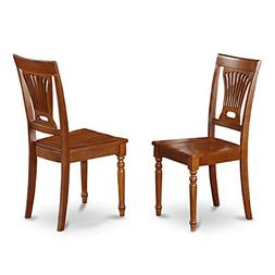 East West Furniture PVC-SBR-W Kitchen/Dining Chair Set with